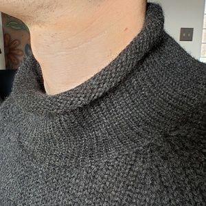 J crew fisherman sweater - large
